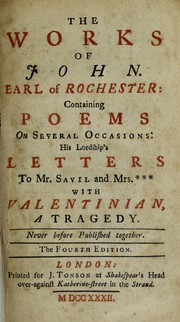 Cover of: The works of John, earl of Rochester