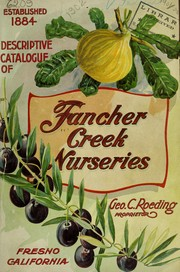 Cover of: Descriptive catalogue of deciduous fruit trees, citrus trees, olive trees, and grape vines