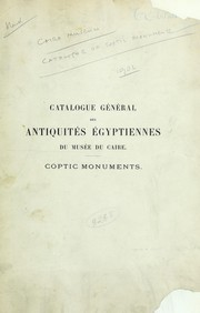 Coptic monuments by W. E. Crum