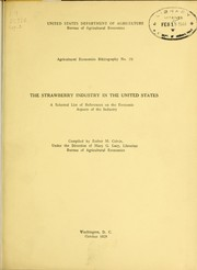 Cover of: The strawberry industry in the United States