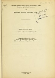 Cover of: Agricultural relief