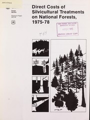 Cover of: Direct cost of silvicultural treatments on national forests, 1975-78 |