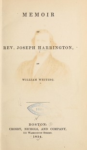 Cover of: Memoir of Rev. Joseph Harrington