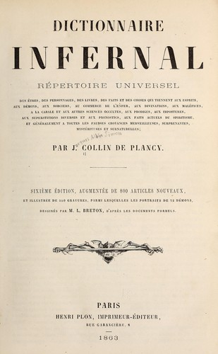 Dictionnaire infernal by J.-A.-S Collin de Plancy