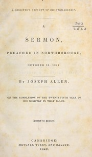 Cover of: A minster's account of his stewardship