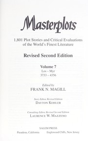 Cover of: Masterplots : 1,801 plot stories and critical evaluations of the world's finest literature |