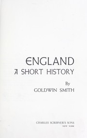 Cover of: England; a short history