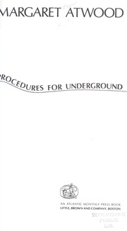 Cover of: Procedures for Underground