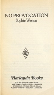 Cover of: No Provocation by Sophie Weston