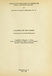 Cover of: Taxation and the farmer