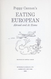 Cover of: Eating European abroad and at home