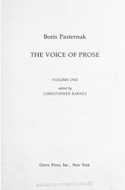 Cover of: The voice of prose