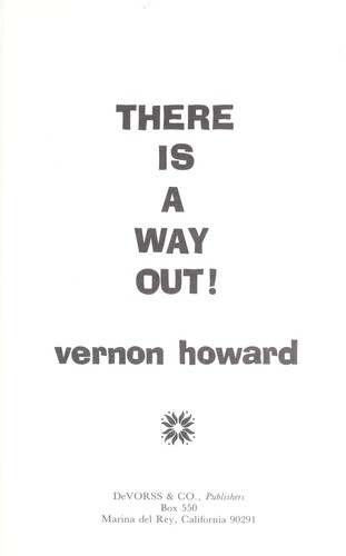 There Is a Way Out by Vernon Howard