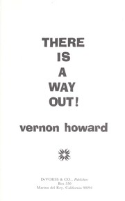 Cover of: There Is a Way Out | Vernon Howard