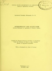 Cover of: Anthropology and agriculture