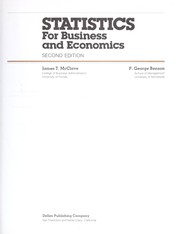Cover of: Statistics for business and economics | James T. McClave