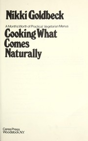 Cover of: Cooking What Comes Naturally
