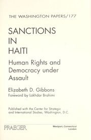 Cover of: Sanctions in Haiti : human rights and democracy under assault |
