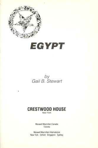 Egypt by Gail Stewart