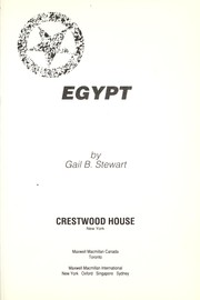 Cover of: Egypt | Gail Stewart