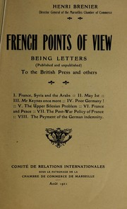 Cover of: French points of view | Henri Brenier