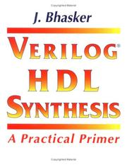 Cover of: Verilog HDL synthesis | Jayaram Bhasker