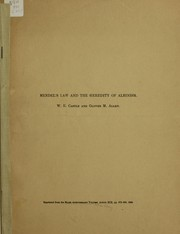 Cover of: Mendel's law and the heredity of albinism