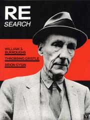 Cover of: William Burroughs, Brion Gysin, Throbbing Gristle (Re/Search #4/5)