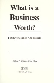 Cover of: What is a Business Worth?