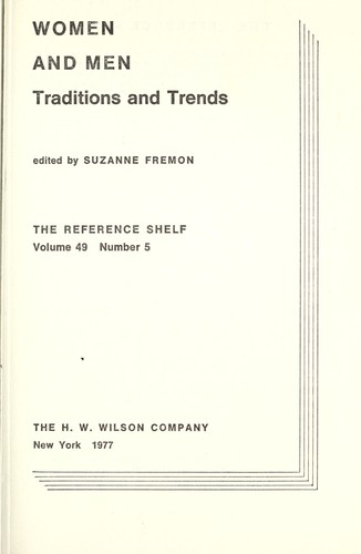 Women and men : tradition and trends by