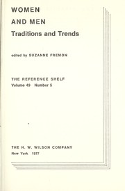 Cover of: Women and men : tradition and trends |