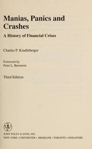 Cover of: Manias, panics, and crashes : a history of financial crises |