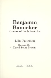 Cover of: Benjamin Banneker, genius of early America | Lillie Patterson
