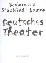 Cover of: Deutsches Theater | Benjamin v. Stuckrad-Barre