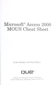 Cover of: Microsoft Access 2000 MOUS cheat sheet