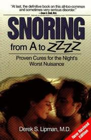 Cover of: Snoring from A to ZZzz | Derek S., M.D. Lipman