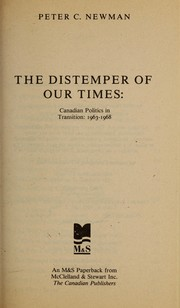The distemper of our times by Peter Charles Newman
