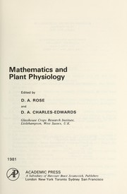 Cover of: Mathematics and plant physiology |