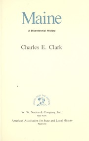 Cover of: Maine by Clark, Charles E.