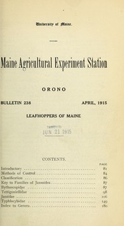 Cover of: Leafhoppers of Maine