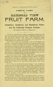 Cover of: Price list of Railroad View Fruit Farm | Railroad View Fruit Farm