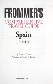 Cover of: Frommer's Spain