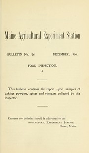 Cover of: Food inspection | Chas. D. Woods