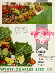 Cover of: [Catalog] : spring 1964 | Wyatt-Quarles Seed Company