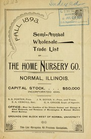 Semi-annual wholesale trade list of the Home Nursery Co