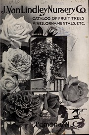 Cover of: Catalog of fruit trees vines, ornamentals, etc | J. Van Lindley Nursery Co. (Pomona, N.C.)