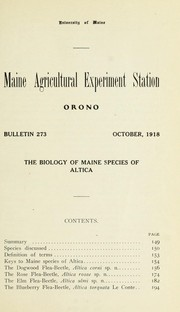 The biology of Maine species of Altica