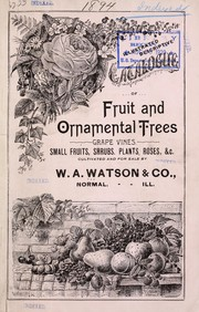 Catalogue of fruit and ornamental trees by W. A. Watson & Co