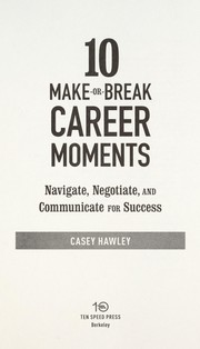 Cover of: 10 make-or-break career moments