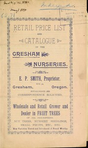 Cover of: Retail price list and catalogue of the Gresham Nurseries | Gresham Nurseries